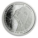 2020 Republic of Congo 1 oz Silver Silverback Gorilla (Prooflike)