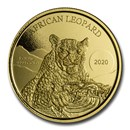 2020 Republic of Ghana 1 oz Gold 20 Cedi African Leopard BU
