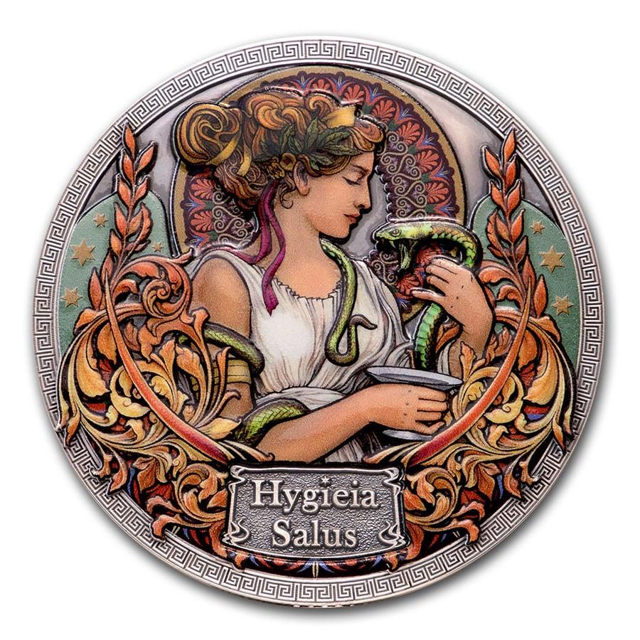 2020 Republic of Ghana Silver Goddesses of Health; Hygieia Salus
