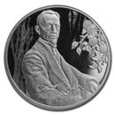 2020 Russia 1/2 oz Silver 2 Roubles Writer I.A. Bunin