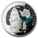 2020 Russia 1 oz Silver 3 Roubles Discovery of Antarctica