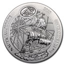 2020 Rwanda 1 oz Silver Nautical Ounce Mayflower BU