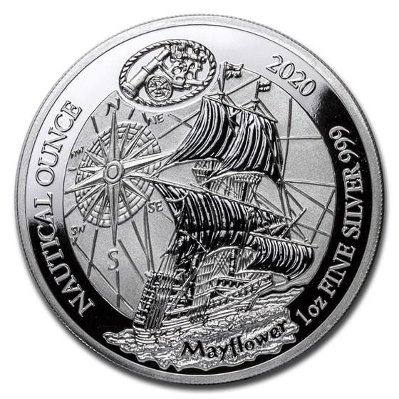 2020 Rwanda 1 oz Silver Nautical Ounce Mayflower Proof