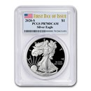 2020-S 1 oz Proof American Silver Eagle PR-70 PCGS (FDI)