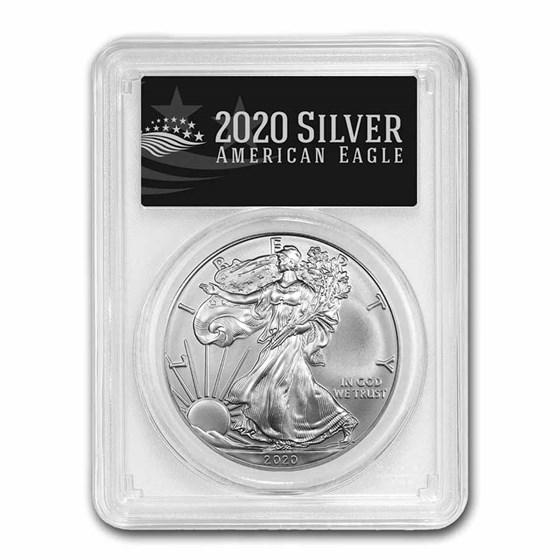 2020 (S) American Silver Eagle MS-69 PCGS (FS, Black Label)