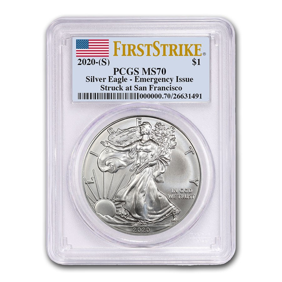2020 (S) American Silver Eagle MS-70 PCGS (FirstStrike®)