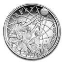 2020-S Basketball Hall of Fame 1/2 Dollar Proof (Box & COA)
