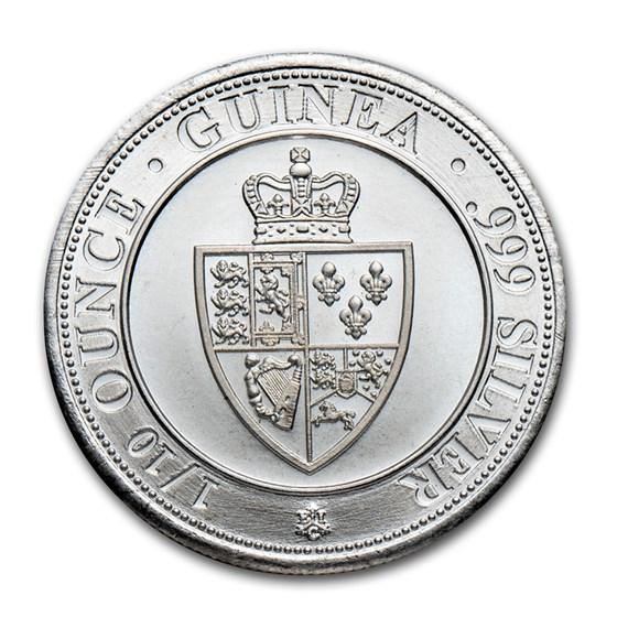 2020 Saint Helena 1/10 oz Silver Spade Guinea Shield BU