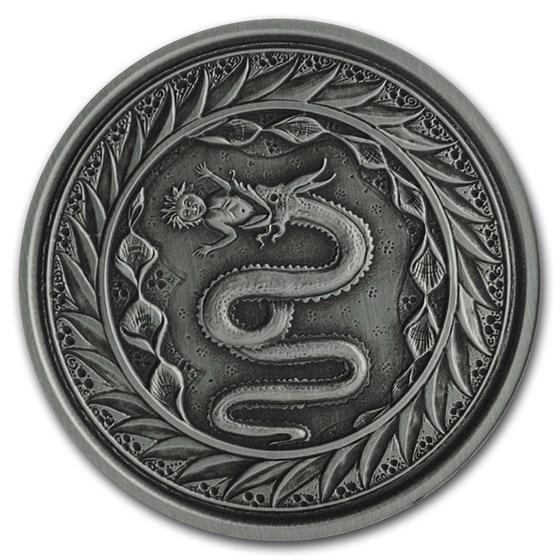 2020 Samoa 1 oz Antique Silver Serpent of Milan BU
