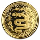 2020 Samoa 1 oz Gold Serpent of Milan BU