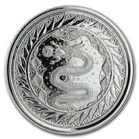 2020 Samoa 1 oz Silver Serpent of Milan BU