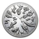 2020 Samoa 888 gram Silver Chinese Zodiac Lunar Calendar
