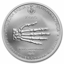 2020 Serbia 1 oz Silver 100 Dinar Nikola Tesla: X-Ray BU