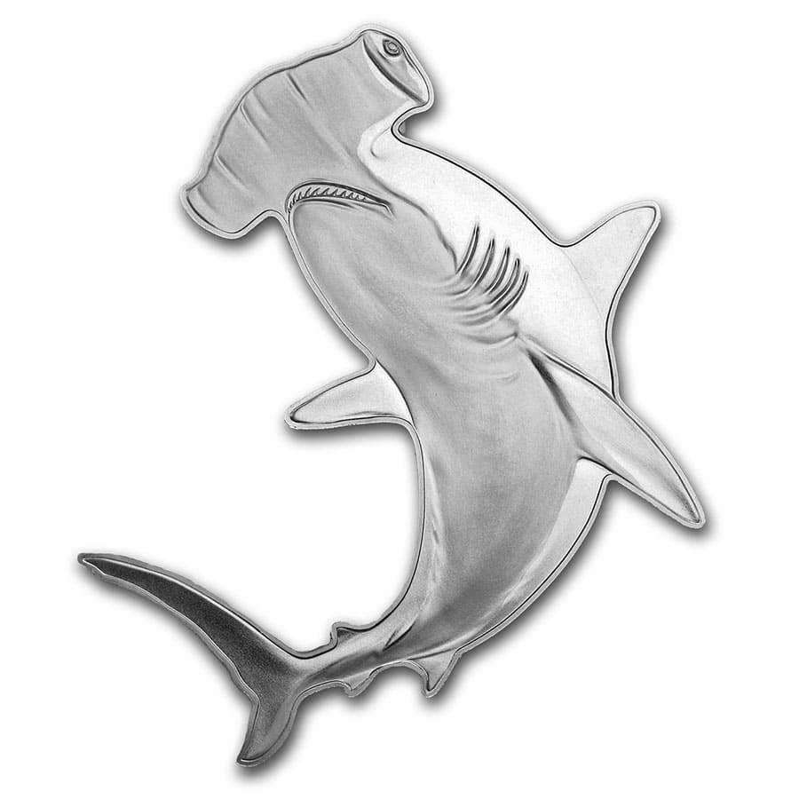 2020 SI 1 oz Silver $2 Hunters of the Deep: Hammerhead Shark