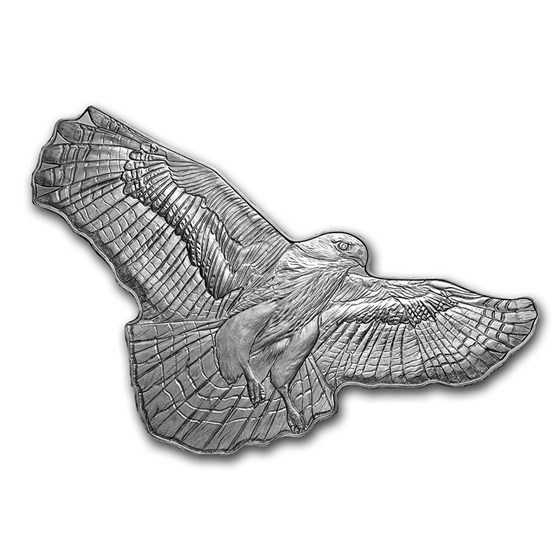 2020 SI 1 oz Silver $2 Hunters of the Sky: Red-Tailed Hawk