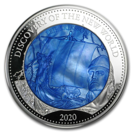 2020 Solomon Isl 5 oz Silver Mother of Pearl Discovery New World