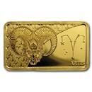 2020 Solomon Islands 1/2 Gram Gold Zodiac Ingot (Aries)
