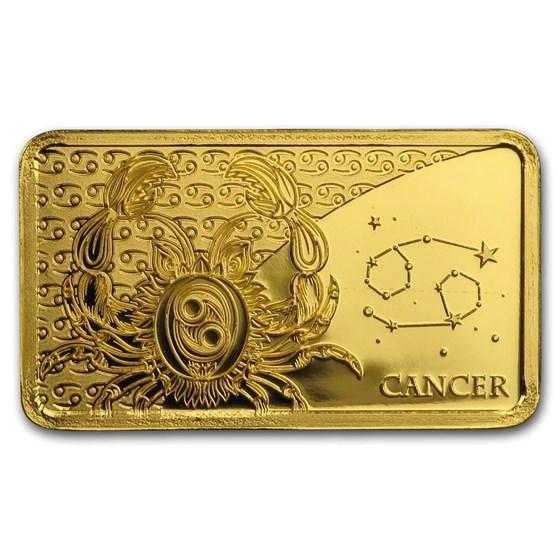 2020 Solomon Islands 1/2 Gram Gold Zodiac Ingot (Cancer)