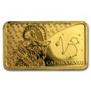 2020 Solomon Islands 1/2 Gram Gold Zodiac Ingot (Capricorn)