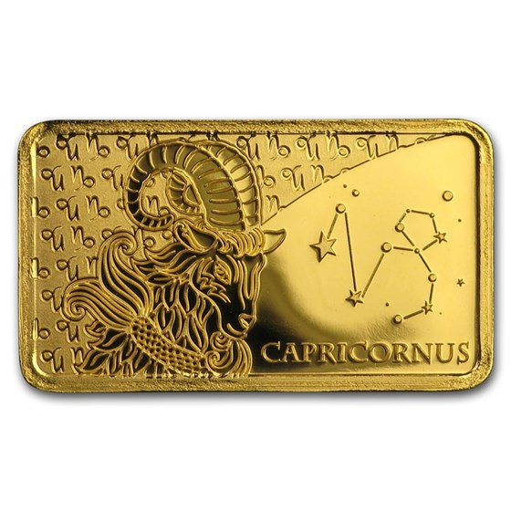 2020 Solomon Islands 1/2 Gram Gold Zodiac Ingot (Capricorn)