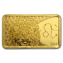 2020 Solomon Islands 1/2 Gram Gold Zodiac Ingot (Leo)