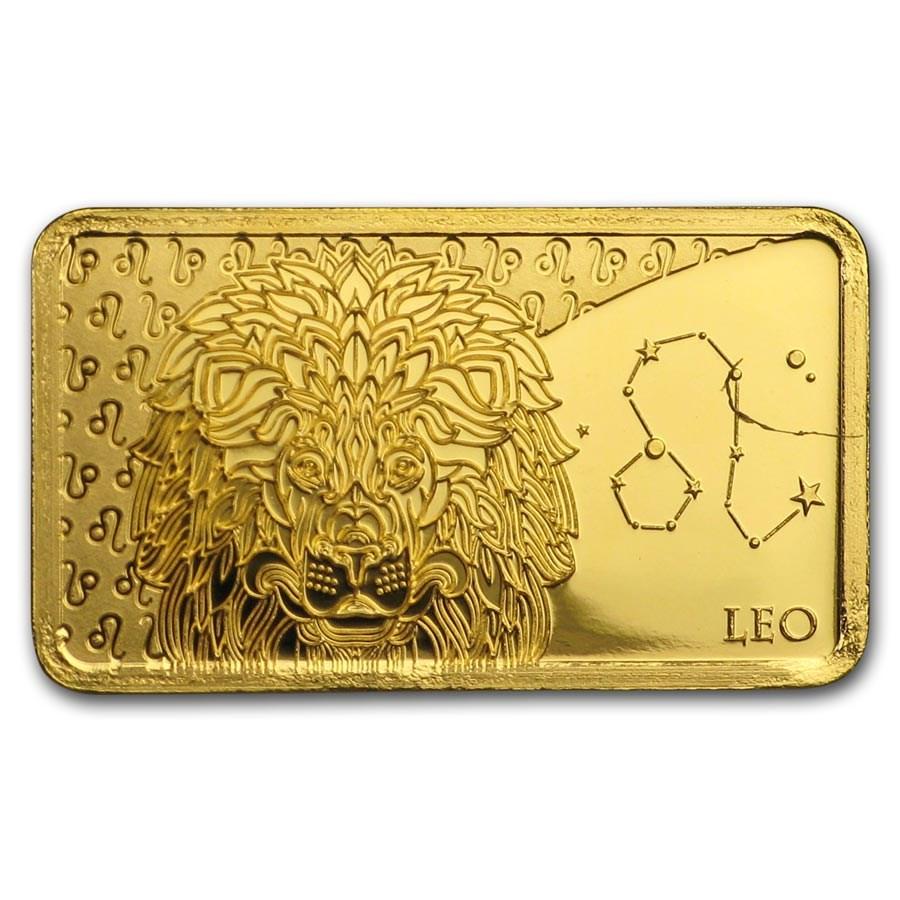 2020 Solomon Islands 1/2 Gram Gold Zodiac Ingot (Leo)