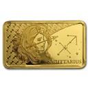 2020 Solomon Islands 1/2 Gram Gold Zodiac Ingot (Sagittarius)