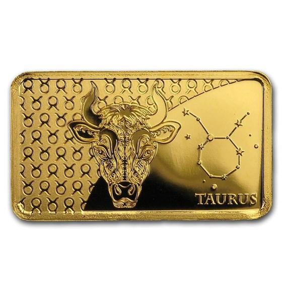 2020 Solomon Islands 1/2 Gram Gold Zodiac Ingot (Taurus)