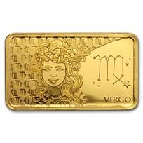 2020 Solomon Islands 1/2 Gram Gold Zodiac Ingot (Virgo)