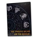 2020 Solomon Islands 1/2 Gram Gold Zodiac Series Ingot Holder