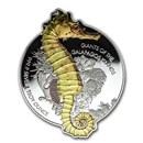 2020 Solomon Islands 1 oz Silver $2 Giant Seahorse
