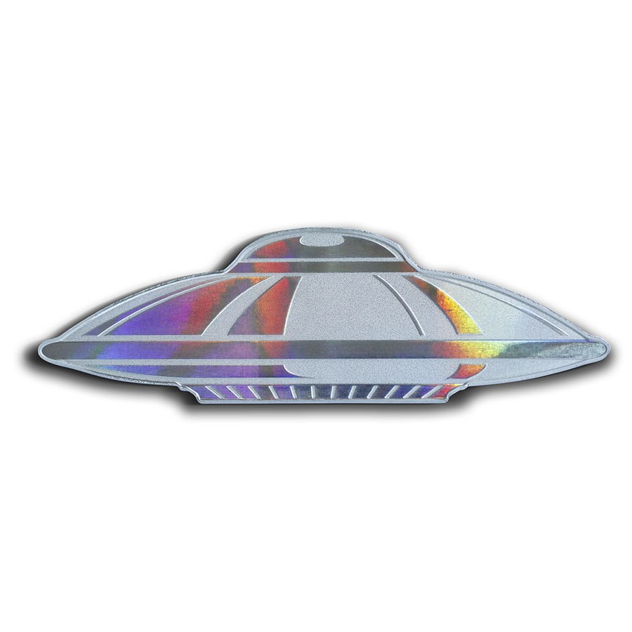 2020 Solomon Islands 1 oz Silver $2 UFO: Flying Saucer