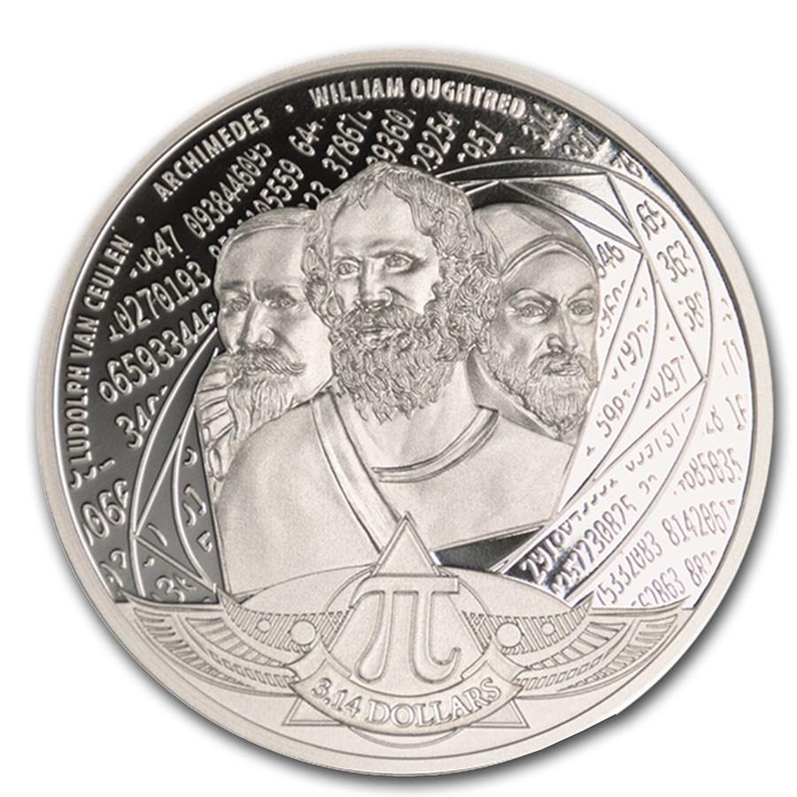 2020 Solomon Islands 1 oz Silver Proof Number Pi
