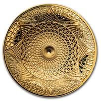 2020 Solomon Islands 100 gram Gold Taj Mahal (4-Layer/New Design)