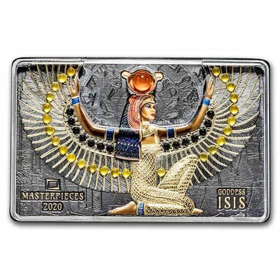 2020 Solomon Islands 200 gram Silver Goddess Isis (Abrasions)