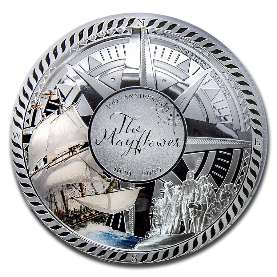 2020 Solomon Islands Silver 400th Anniversary Mayflower