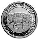 2020 Somalia 1/10 oz Silver Elephant BU