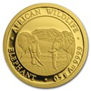 2020 Somalia 1/2 gram Gold African Elephant BU