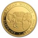 2020 Somalia 1/2 oz Gold African Elephant BU
