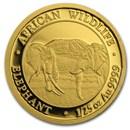 2020 Somalia 1/25 oz Gold African Elephant BU