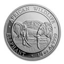 2020 Somalia 1/4 oz Silver Elephant BU
