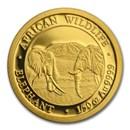 2020 Somalia 1/50 oz Gold African Elephant BU