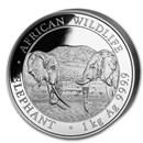 2020 Somalia 1 kilo Silver Elephant