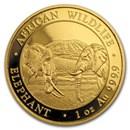 2020 Somalia 1 oz Gold African Elephant BU