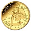 2020 Somalia 1 oz Gold African Wildlife Leopard BU