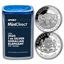 2020 Somalia 1 oz Silver Elephant (20-Coin MintDirect® Tube)
