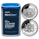 2020 Somalia 1 oz Silver Elephant (20-Coin MintDirect® Tube)