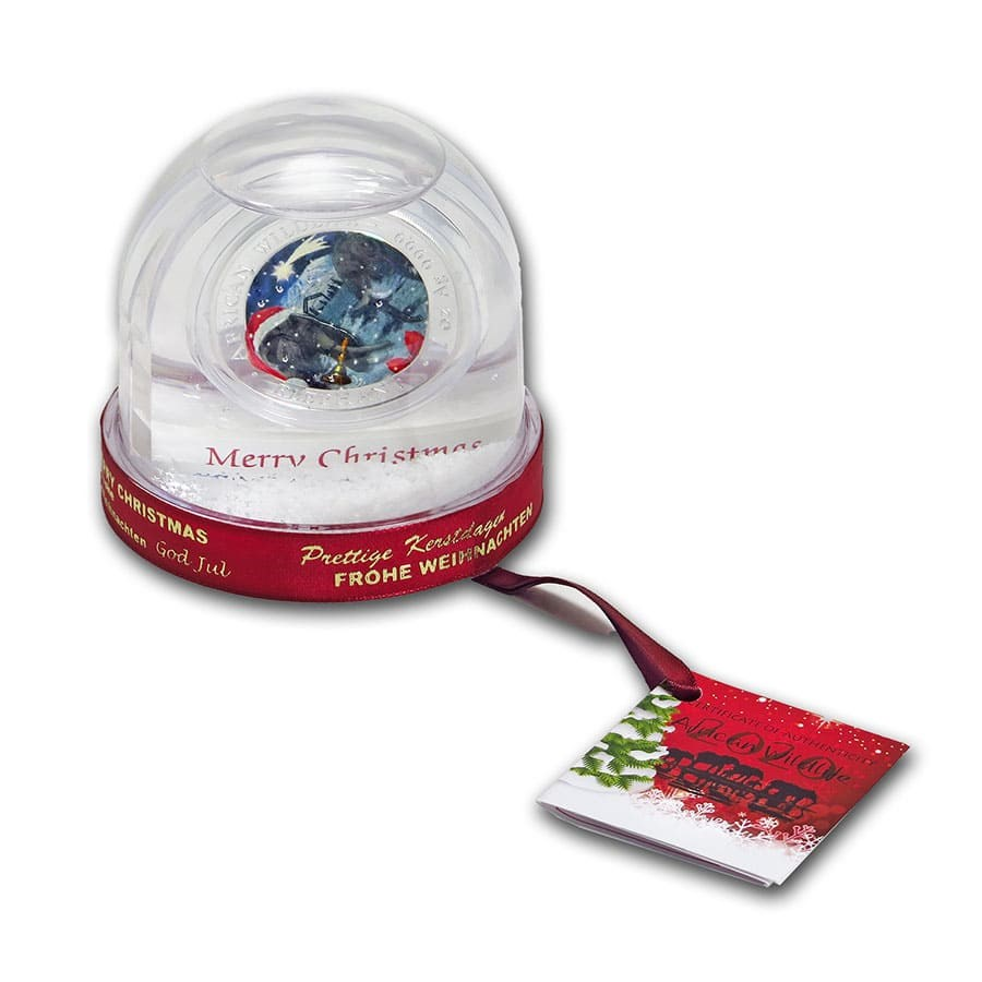2020 Somalia 1 Oz Silver Elephant Christmas Issue In Snow Globe Buy 2020 Somalia 1 oz Silver Elephant Christmas Issue in Snow