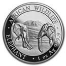 2020 Somalia 1 oz Silver Elephant (High Relief)