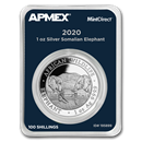 2020 Somalia 1 oz Silver Elephant (MintDirect® Single)